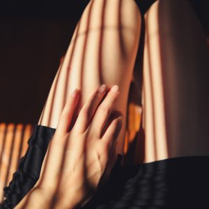 black short shorts close-up photography